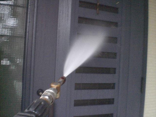 玄関の洗浄