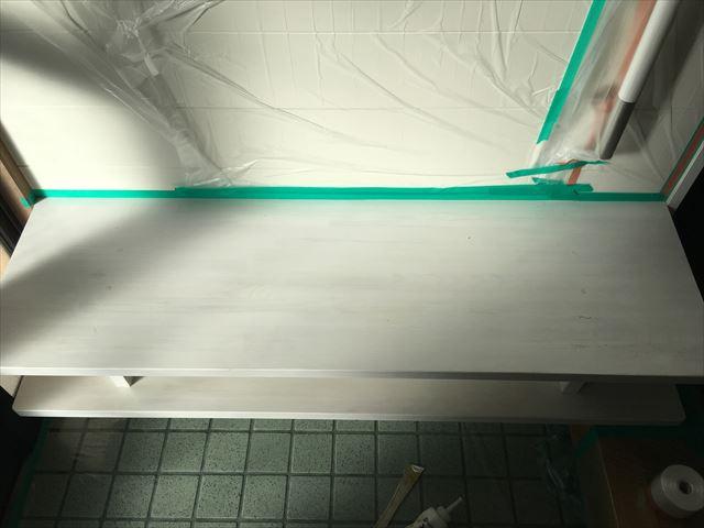 木製ベンチ塗装前