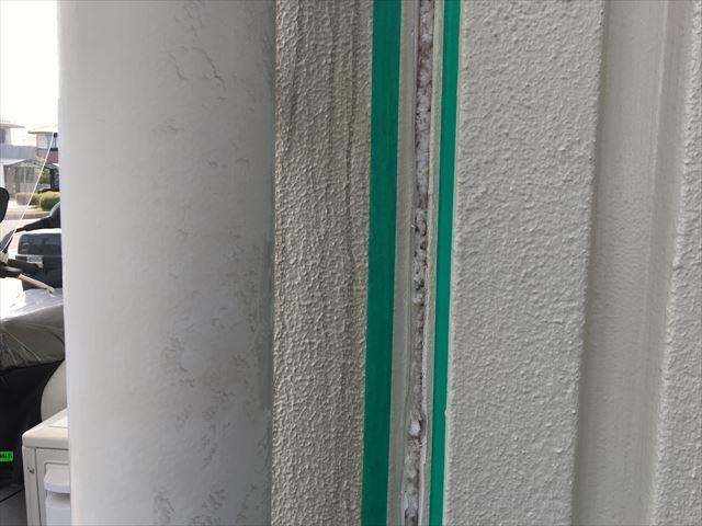 水戸市元吉田町のお客様のところでALC外壁シーリングの打ち替え作業をさせて頂きました