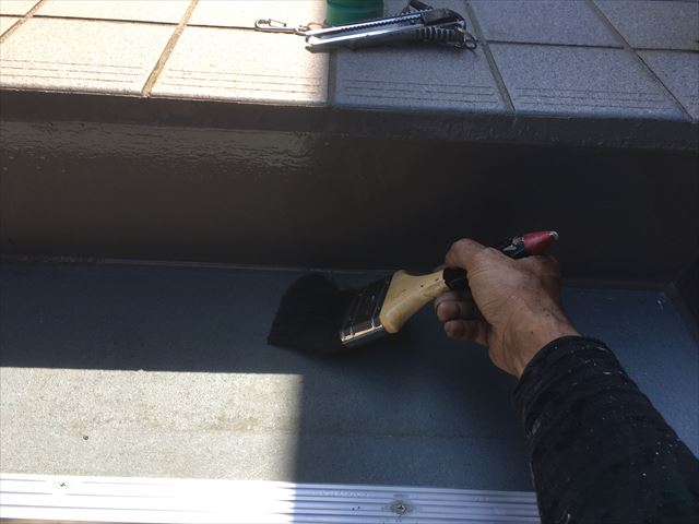 階段踏み板塗装前お掃除