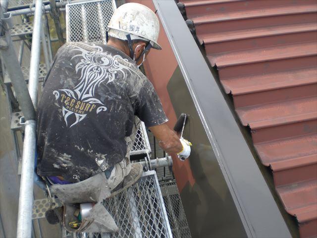 破風板塗装コスモマイルドシリコン