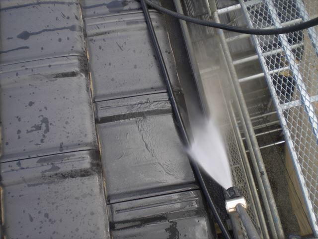 軒樋の洗浄
