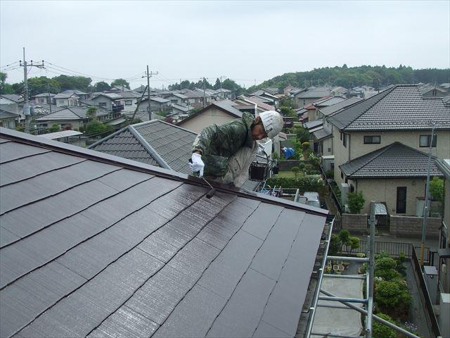 屋根仕上げ塗装スーパーセランマイルド遮熱塗料