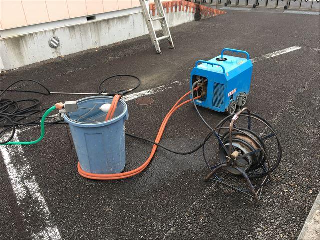 高圧洗浄機セッティング
