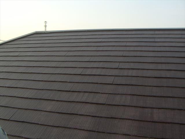 ス-パ-セランマイルドIRで屋根の上塗り