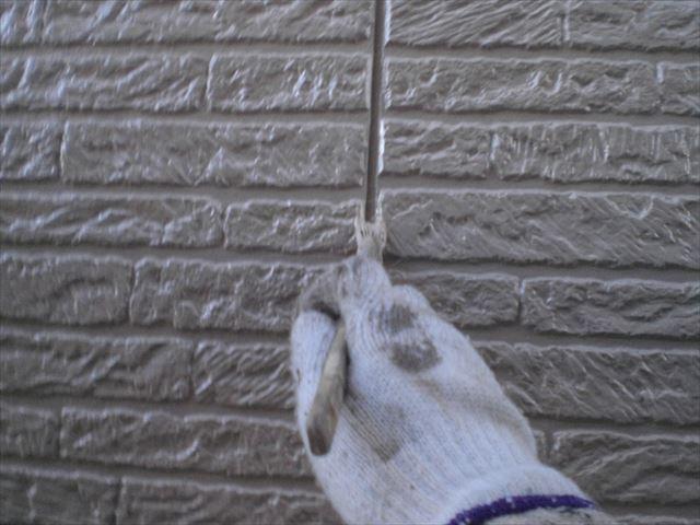 サイディング外壁上塗り作業