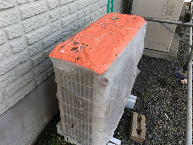 エアコン室外機専用カバー養生