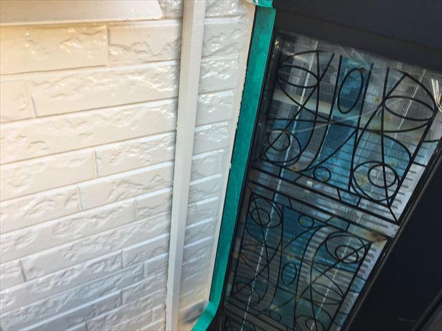 窓周りライン取り直し補修