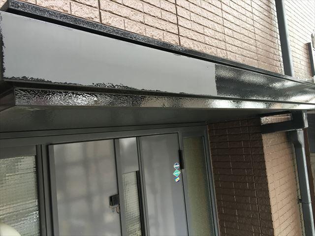 玄関庇塗装