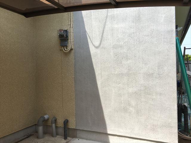 改修モルタル壁