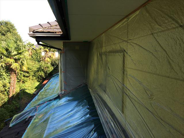 屋根 外壁ビニール養生