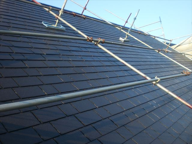 屋根仕上げ塗り完了