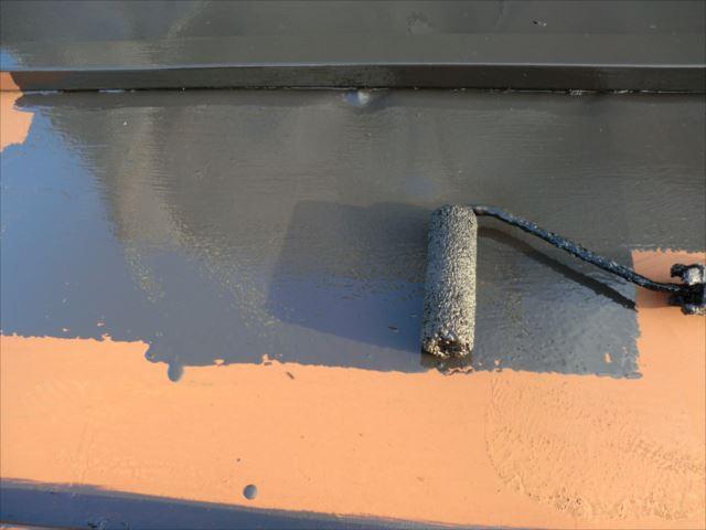 物置屋根塗装、ロイヤルトップスター