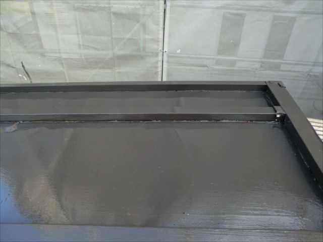 物置屋根塗装後、ロイヤルトップスター