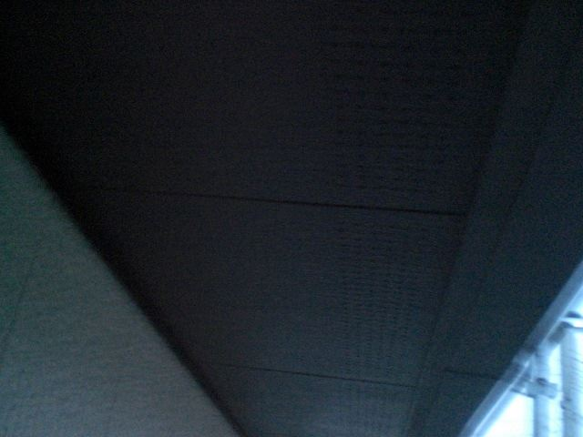 軒天塗装仕上り