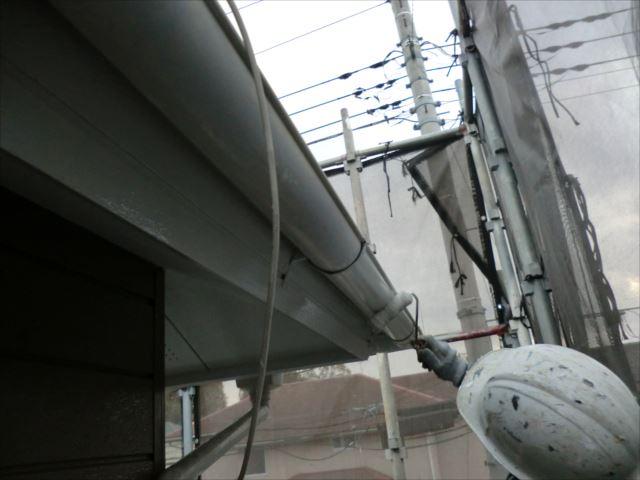 雨樋塗装、コスモマイルドシリコン