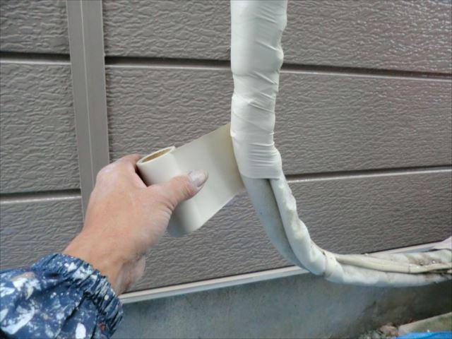 エアコンホース、保護テープ