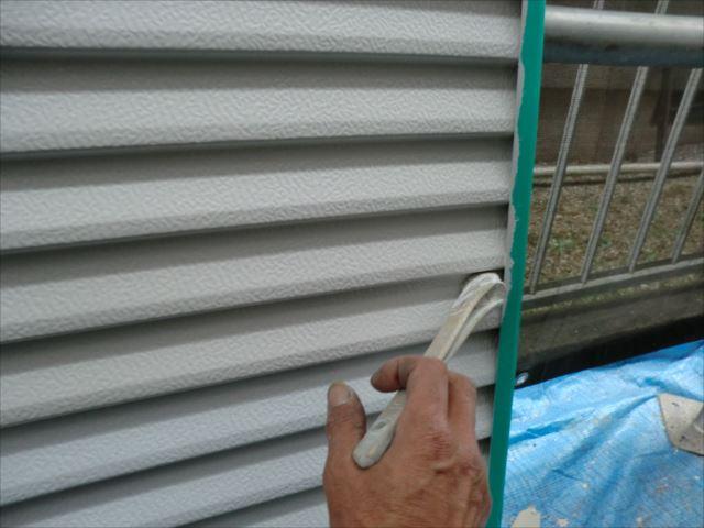 雨戸塗装刷毛塗り、コスモマイルドシリコン2