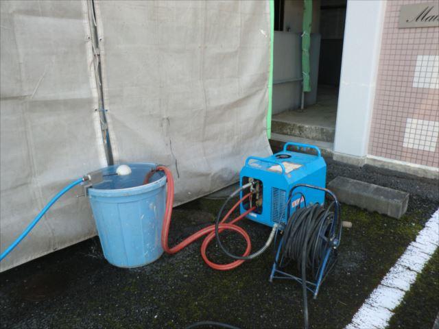 高圧洗浄機のセッティング