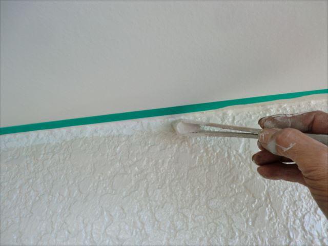 外壁軒チリ塗装、クリーンマイルドシリコン