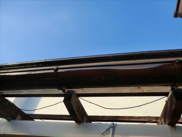 雨樋塗装後、コスモマイルドシリコン2