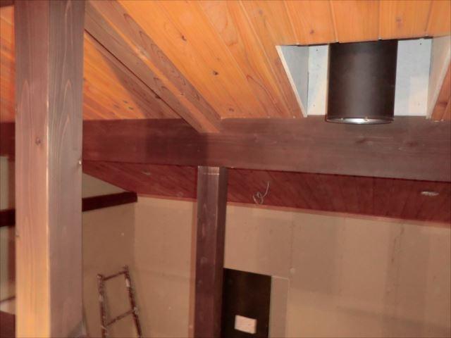 梁、柱塗装、キシラデコール