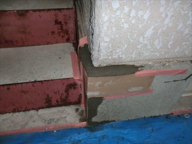 基礎部分のモルタル補修