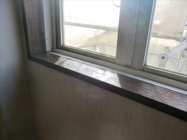窓枠塗装、オイルステイン