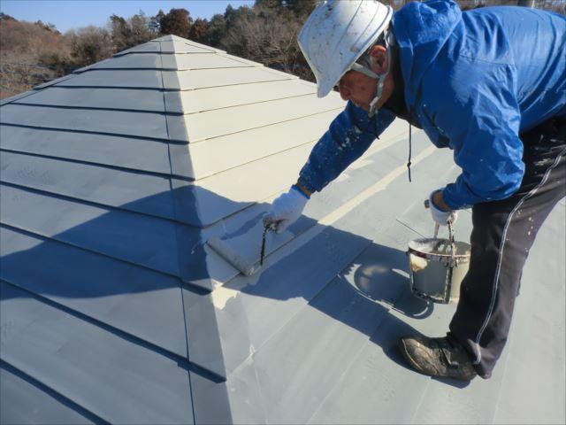 鉄板屋根錆止め下塗り、マイルドボーセイ
