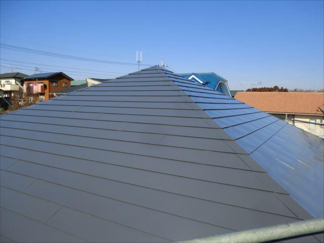 屋根塗装完了、ヤネフレッシュSI