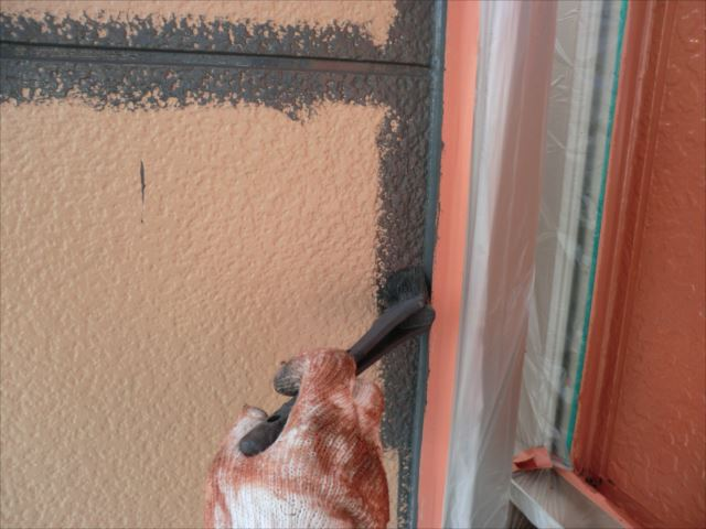 ベランダ袖壁塗装、ヤネフレッシュSI