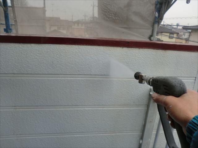 サイディング外壁、高圧洗浄