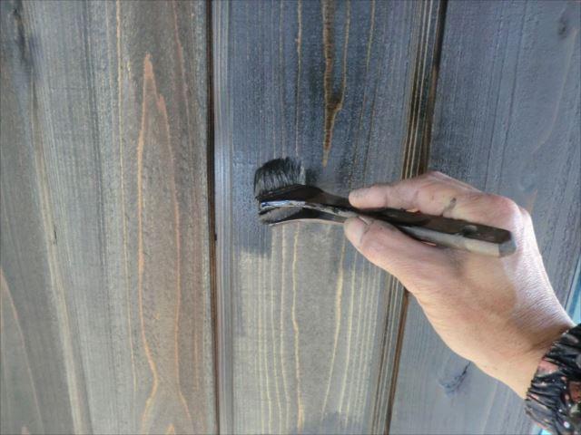 木板壁塗装、キシラデコール