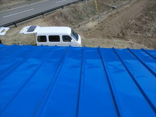 瓦棒屋根塗装後、ユメロックルーフ