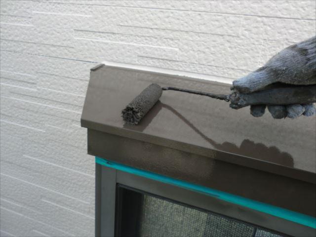 出窓上部塗装