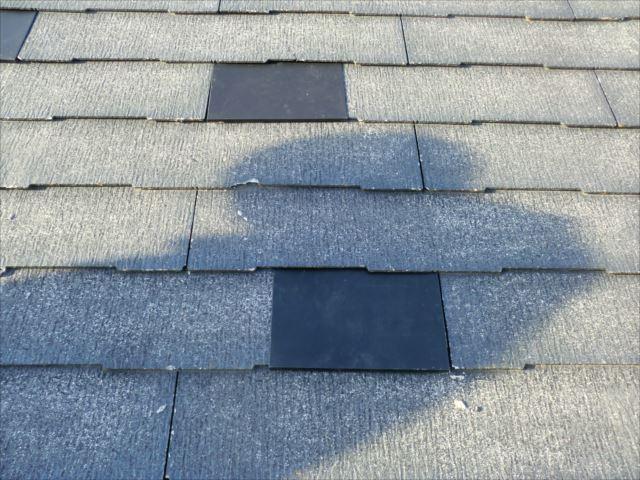 屋根ひび割れ鉄板補修
