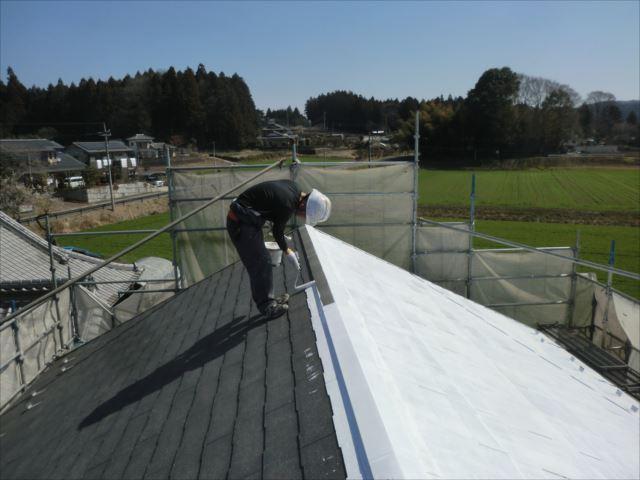 屋根下塗り、ダイヤSPRカラープライマー