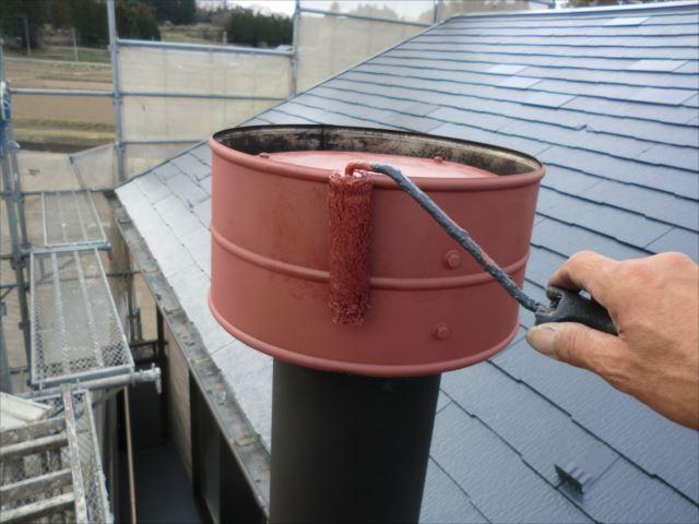 煙突錆止め下塗り、オキツモ錆止め耐熱塗料