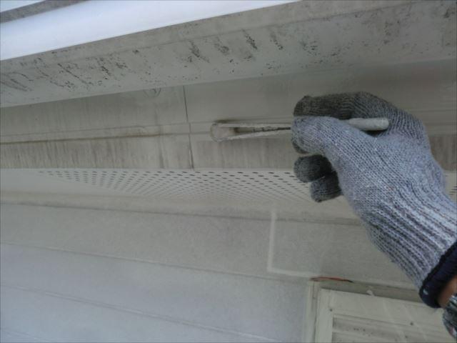 破風板塗装、クリーンマイルドシリコン