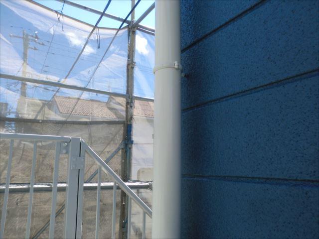 雨樋塗装後、クリーンマイルドシリコン