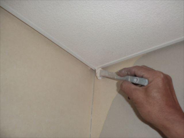 天井見切り塗装、コスモマイルドシリコン2
