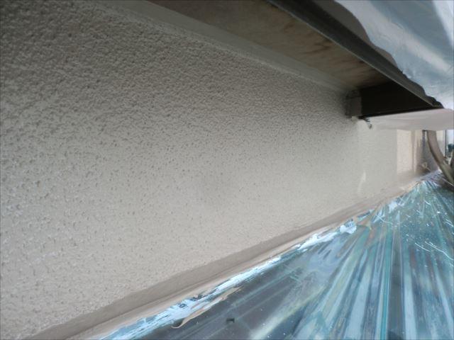 外壁着色2回目仕上げ塗装後、セラミクリーン