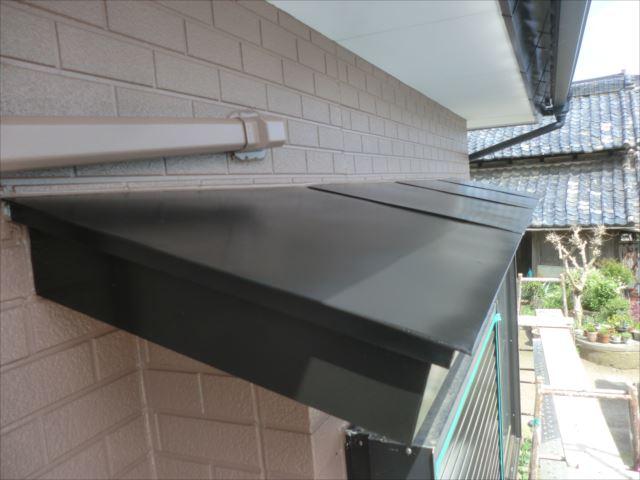 鉄板霧除け塗装、クリーンマイルドシリコン