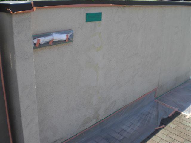 アクリルリシンのシポロールで塀塗装と外壁シーリング撤去 水戸市