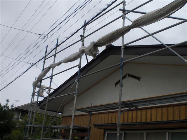 M邸 高圧洗浄後台風対策
