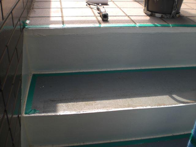 S邸階段上塗り前