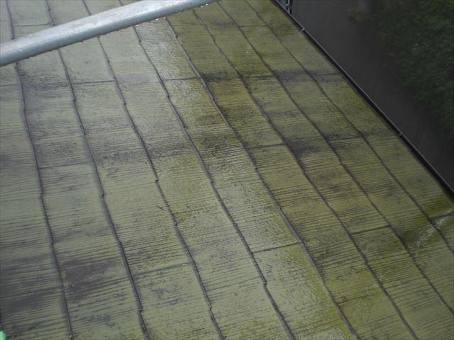 高圧洗浄前 屋根