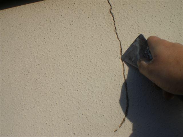 モルタル外壁クラック
