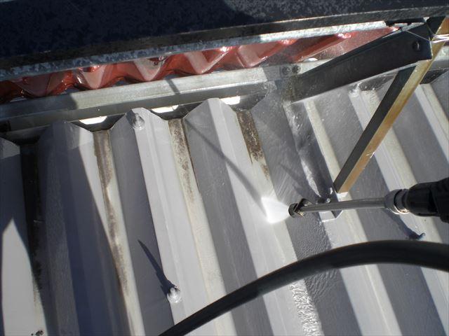 折板屋根洗浄
