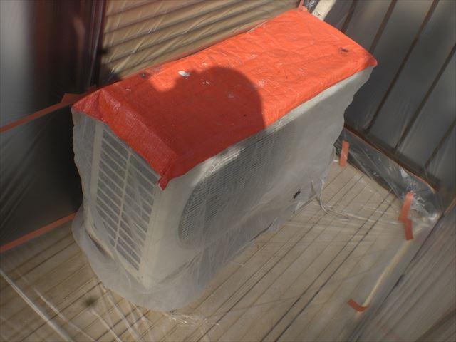 エアコン室外機の養生